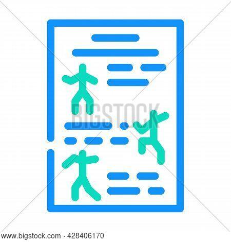 Instruction Dancer Color Icon Vector. Instruction Dancer Sign. Isolated Symbol Illustration