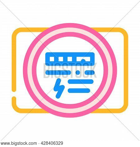 Electric Meter Color Icon Vector. Electric Meter Sign. Isolated Symbol Illustration