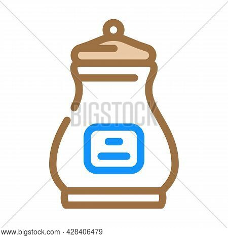 Burial Urn Color Icon Vector. Burial Urn Sign. Isolated Symbol Illustration