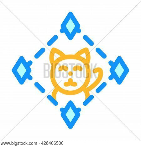 Game About Digital Collectible Cats In Nft Form Color Icon Vector. Game About Digital Collectible Ca