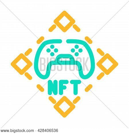 Nft And Games Color Icon Vector. Nft And Games Sign. Isolated Symbol Illustration