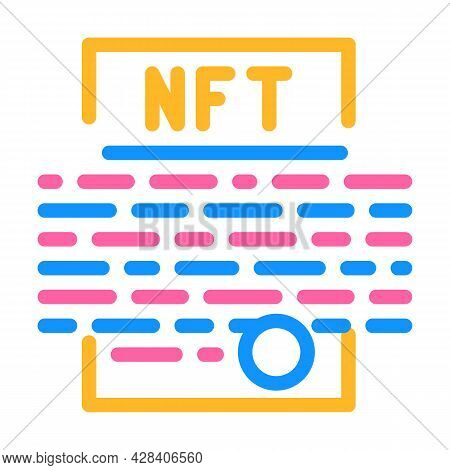 Smart Nft Contract Color Icon Vector. Smart Nft Contract Sign. Isolated Symbol Illustration