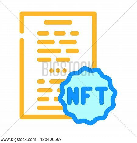 Nft And Poetry Color Icon Vector. Nft And Poetry Sign. Isolated Symbol Illustration