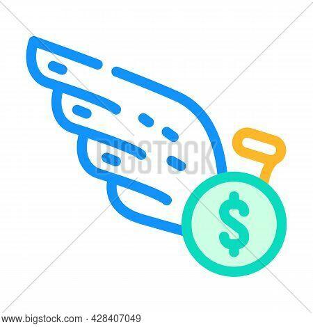 Cash Profit Color Icon Vector. Cash Profit Sign. Isolated Symbol Illustration