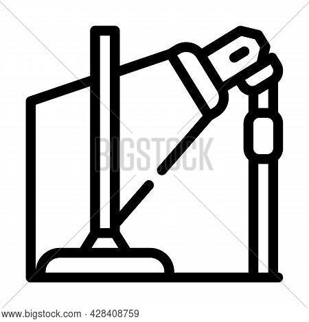 Equipment For Dancer Leg Line Icon Vector. Equipment For Dancer Leg Sign. Isolated Contour Symbol Bl