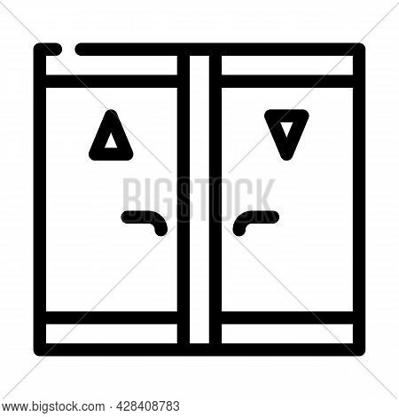 Toilet Room Line Icon Vector. Toilet Room Sign. Isolated Contour Symbol Black Illustration