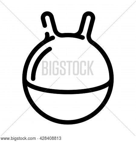 Spherical Tool For Jumping Dancer Training Tool Line Icon Vector. Spherical Tool For Jumping Dancer