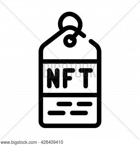 Nft Label Line Icon Vector. Nft Label Sign. Isolated Contour Symbol Black Illustration
