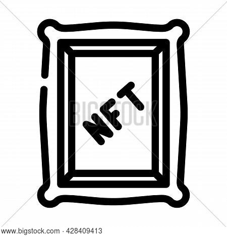 Nft Digital Painting Line Icon Vector. Nft Digital Painting Sign. Isolated Contour Symbol Black Illu