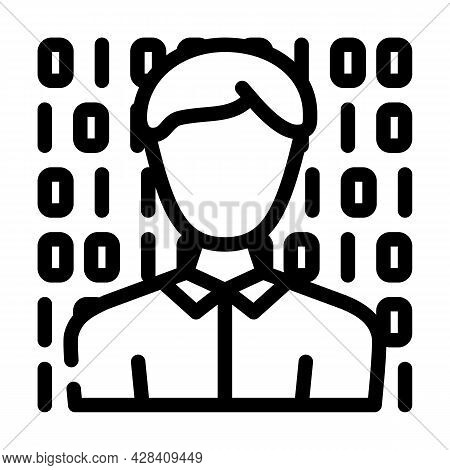 Anonymous Buyer Line Icon Vector. Anonymous Buyer Sign. Isolated Contour Symbol Black Illustration