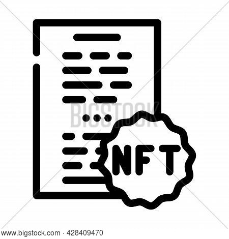 Nft And Poetry Line Icon Vector. Nft And Poetry Sign. Isolated Contour Symbol Black Illustration