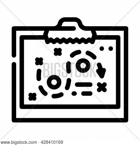 Startup Strategy Board Line Icon Vector. Startup Strategy Board Sign. Isolated Contour Symbol Black