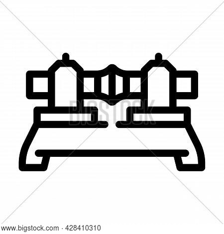 Butt Welding Line Icon Vector. Butt Welding Sign. Isolated Contour Symbol Black Illustration