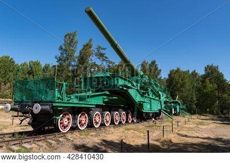 Fort Krasnaya Gorka, Russia - July 19, 2021: Artillery Transporter Tm-3-12 With A 305-mm Gun From Th