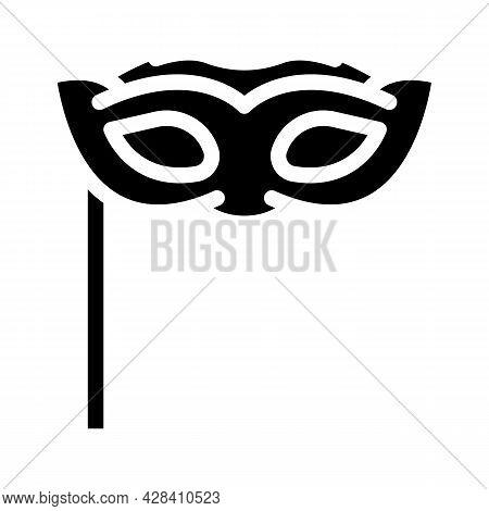 Facial Mask Dancer Glyph Icon Vector. Facial Mask Dancer Sign. Isolated Contour Symbol Black Illustr