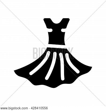 Dress Dancer Glyph Icon Vector. Dress Dancer Sign. Isolated Contour Symbol Black Illustration