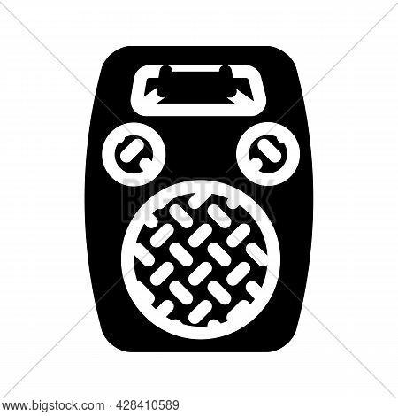 Radio Dynamic Glyph Icon Vector. Radio Dynamic Sign. Isolated Contour Symbol Black Illustration