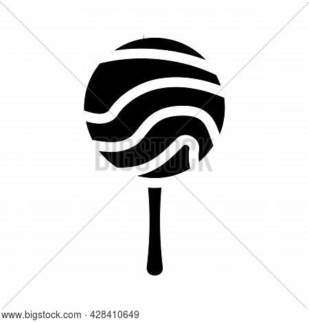 Lollipop Dessert Glyph Icon Vector. Lollipop Dessert Sign. Isolated Contour Symbol Black Illustratio