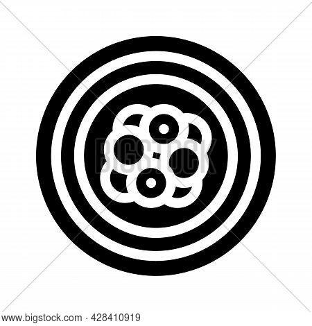Atom Electron Glyph Icon Vector. Atom Electron Sign. Isolated Contour Symbol Black Illustration