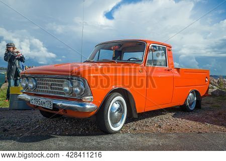 Kronstadt, Russia - September 04, 2016: Soviet Pickup Izh-2715 - Participant Of The International Fe