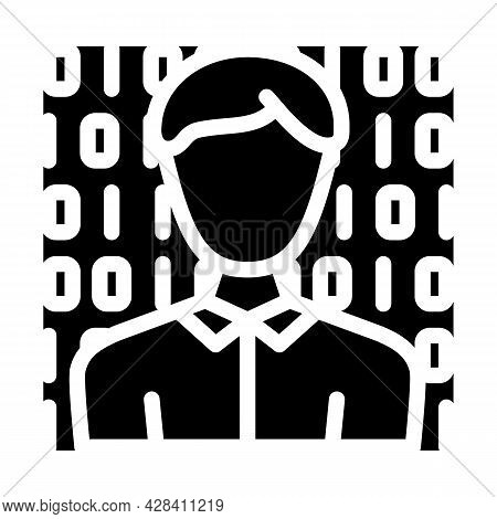 Anonymous Buyer Glyph Icon Vector. Anonymous Buyer Sign. Isolated Contour Symbol Black Illustration