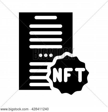 Nft And Poetry Glyph Icon Vector. Nft And Poetry Sign. Isolated Contour Symbol Black Illustration