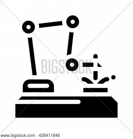 Robot Welder Glyph Icon Vector. Robot Welder Sign. Isolated Contour Symbol Black Illustration