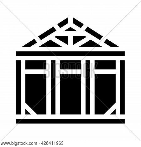 Steel Structure Glyph Icon Vector. Steel Structure Sign. Isolated Contour Symbol Black Illustration