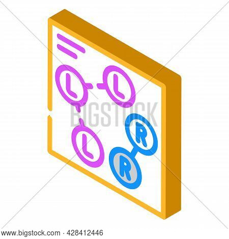 Dance Scheme Isometric Icon Vector. Dance Scheme Sign. Isolated Symbol Illustration