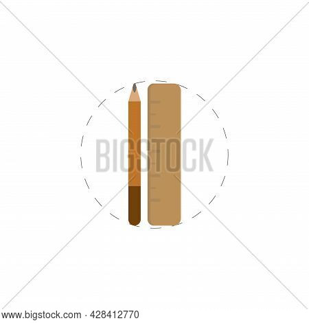 Ruler And Pencil Clipart. Ruler And Pencil Clipart Simple Vector Clipart. Ruler And Pencil Clipart I