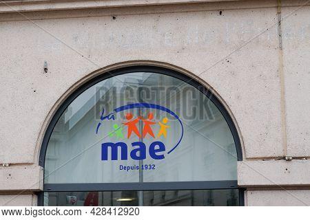 Bordeaux , Aquitaine France - 07 25 2021 : Mae Text Brand And Sign Logo Of Mutuelle Assurance De L'é