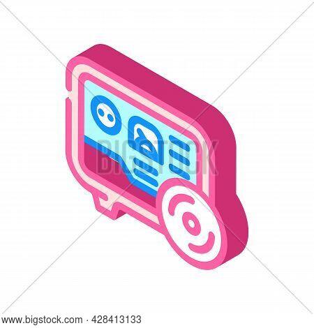 Gas Meter Fuel Indicator Isometric Icon Vector. Gas Meter Fuel Indicator Sign. Isolated Symbol Illus