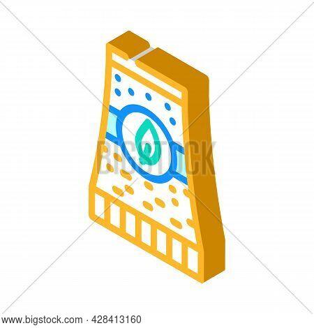 Bio Energy Plant Tube Isometric Icon Vector. Bio Energy Plant Tube Sign. Isolated Symbol Illustratio