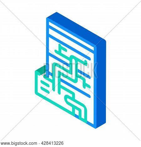 Eco Energy Scheme Isometric Icon Vector. Eco Energy Scheme Sign. Isolated Symbol Illustration
