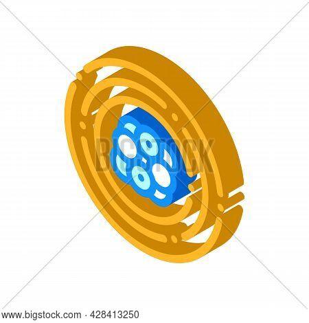 Atom Electron Isometric Icon Vector. Atom Electron Sign. Isolated Symbol Illustration