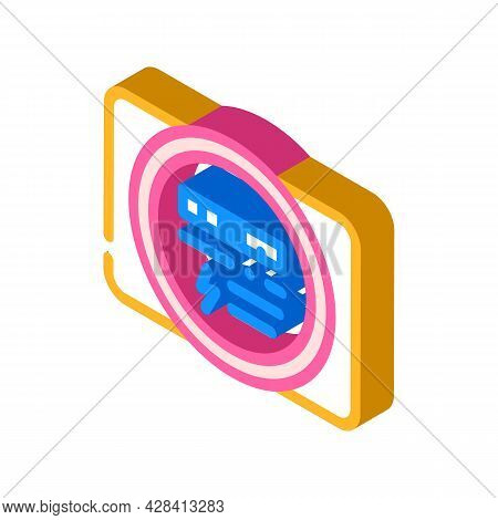Electric Meter Isometric Icon Vector. Electric Meter Sign. Isolated Symbol Illustration