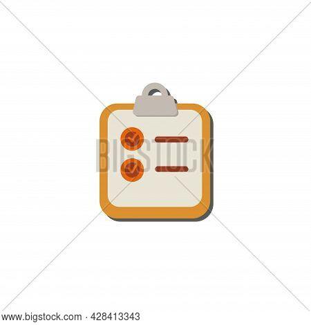 Clip Board Clipart. Clip Board Simple Vector Clipart.