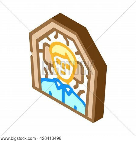 Dead Man In Coffin Isometric Icon Vector. Dead Man In Coffin Sign. Isolated Symbol Illustration
