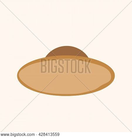 Elegant Womans Hat Isolated On White Background. Headgear Vector Illustration For Woman, Girl Or Lad
