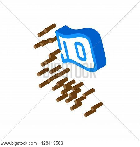 Ashes Of Deceased Isometric Icon Vector. Ashes Of Deceased Sign. Isolated Symbol Illustration