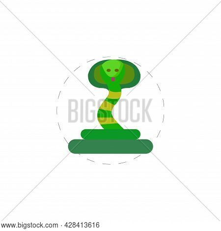 Cobra Snake Clipart. Cobra Snake Simple Vector Clipart.