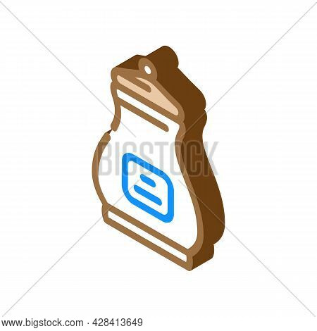Burial Urn Isometric Icon Vector. Burial Urn Sign. Isolated Symbol Illustration
