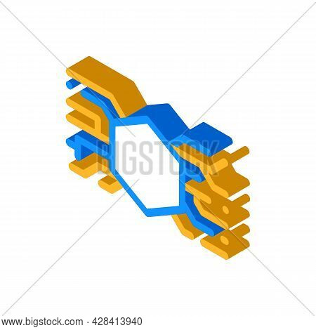 Abstract Symbolism Isometric Icon Vector. Abstract Symbolism Sign. Isolated Symbol Illustration