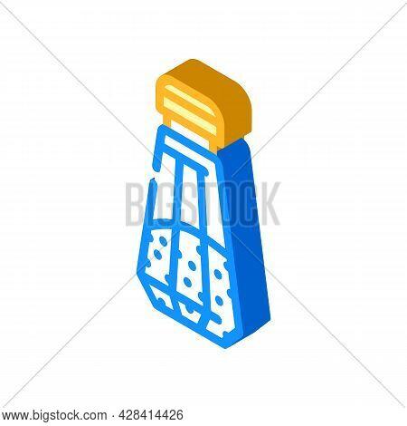 Salt In Salt Shaker Isometric Icon Vector. Salt In Salt Shaker Sign. Isolated Symbol Illustration