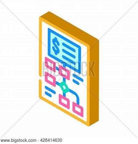 Startup Investment Analysis Isometric Icon Vector. Startup Investment Analysis Sign. Isolated Symbol