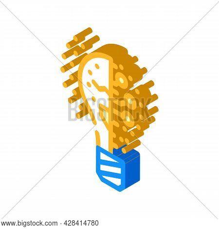 Lightning Innovative Idea Isometric Icon Vector. Lightning Innovative Idea Sign. Isolated Symbol Ill