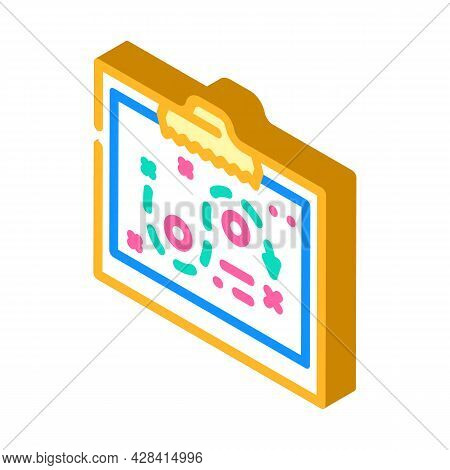 Startup Strategy Board Isometric Icon Vector. Startup Strategy Board Sign. Isolated Symbol Illustrat