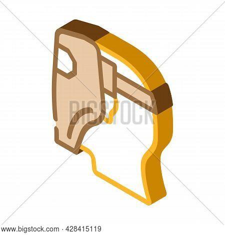 Worker Welder Isometric Icon Vector. Worker Welder Sign. Isolated Symbol Illustration
