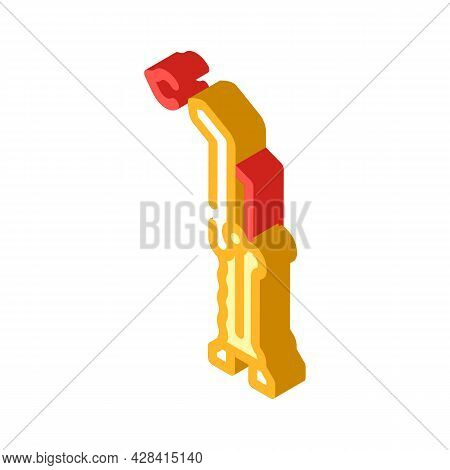 Welding Torch Isometric Icon Vector. Welding Torch Sign. Isolated Symbol Illustration