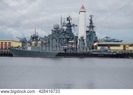 Kronstadt, Russia - October 06, 2020: Small Anti-submarine Ship